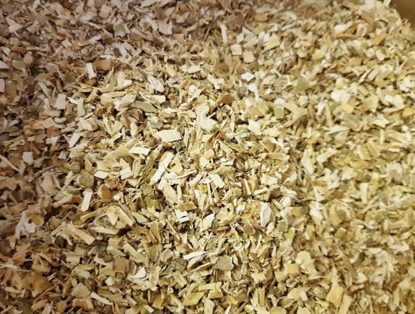 Weidenrinde geschnitten
